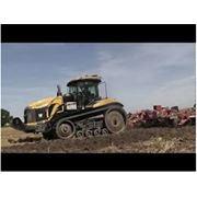 Вспашка дискование культивация почвы: Caterpillar MT865 + Gregoire Besson 7.2 с катками