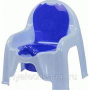 Горшок-стульчик голубой фото