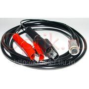 Шнур питания DCC-13 от клемм аккумулятора для FSM-50S, 60S, 17S, 18S фото