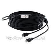 Оптоволовонный кабель для передачи сигнала HDMI, поддержка HDCP Kramer C-FOHM/FOHM (1.3) —50 15 м фото