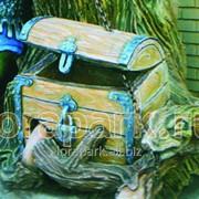 Домик скульптуры Сундук Со Змеем фото