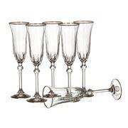 Набор бокалов для шампанского из 6 шт.130 мл. (868783) фото