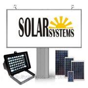 Солнечная энергосистема для подсветки рекламного стенда 4х6 метра фото
