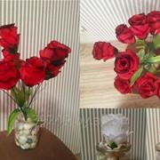 Букет роз многослойных 9 голов 40 см фото