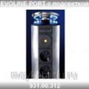Встраиваемая розетка Evoline Port 931.00.312 с подсветкой