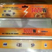 Преобразователь авто инвертор 12V-220V, 3000W USB фото