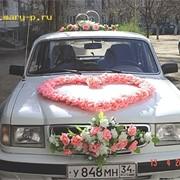 Украшения на свадебные автомобили фото