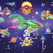 Детские фотообои Walltastic Приключения пришельцев фото