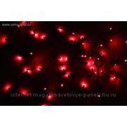 """Гирлянда """"Твинкл"""" черные нити 13 м LED-D-150-240V с контроллер 8 р красный фото"""