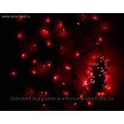 """Гирлянда """"Твинкл"""" черная нить 9 м LED-D-100-240V с контроллером 8 р красный фото"""