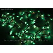 Гирлянда 9 м черные нити цвет зеленый 240 л с контролер 8 р фото