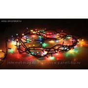 Гирлянда электрическая 15 м, черные нити и цветные лампы, 400 лампочек, 8 режимов фото