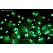 """Гирлянда """"Твинкл"""" черные нити 13 м LED-D-150-240V с контроллер 8 р зеленый фото"""