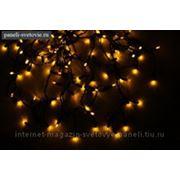 """Гирлянда уличная """"Висюльки"""" цвет желтый, с толстым черным проводом, 150 LED, 5 м фото"""