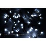 """Гирлянда """"Твинкл"""" черная нить 5.2 м LED-D-50-240V с контроллер 8 р белый фото"""