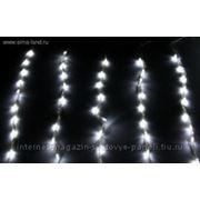 """""""Световой дождь"""" Silikon белая нить 2*1,5 м LED-D-400л-240V с контролл 8 р белый фото"""