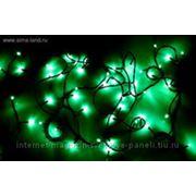 """Гирлянда """"Твинкл"""" черная нить 5.2 м LED-D-50-240V с контроллер 8 р зеленый фото"""