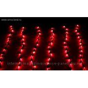 """""""Световой дождь"""" черная нить 1,5*1 м LED-D-300л-240V с контролл 8 р красный фото"""