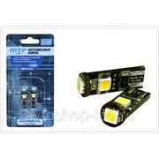 """Светодиодные лампы MTF Light T10 / W5W с функцией """"обманка"""""""