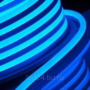 """Гибкий неон """"Профессиональный"""", 14.5 x 27.5мм, 240В, Синий фото"""