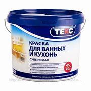 Краска В/Д для кухонь и ванных, База D, Текс Профи, 4.5 л, супербелая фото