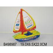 Лодка 500-2 с парусом на батарейках в пакете 19*6,5*22 см (832029) фото