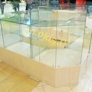 Прилавок островная система из стекла фото
