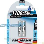 Аккумулятор AAA ANSMANN 1100mAh 2шт (5035222)