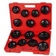 WiederKraft WDK-81245 Набор чашек для съема масляных фильтров в кейсе фото