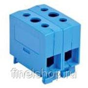 Силовой распределительный блок синий Аl/Cu 50 кв. мм. 320А на DIN рейку