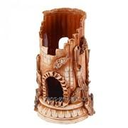Аквадекор-грот для аквариума ''Колизей'' коричневый 14х14х25 см фото