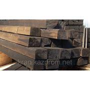 Шпала деревянная пропитанная, тип 2 б/у фото