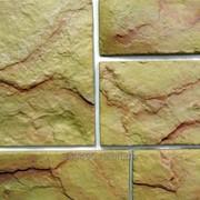 Камень натуральный Песчаник Нормандия рельефный 60/288 х 160 х 12 мм фото