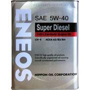 Масло моторное ENEOS SUPER DIESEL 5W40 CH-4 4л фото