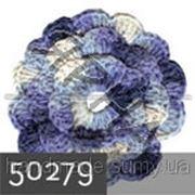 Пряжа для вязания Кашемир файн ALIZE белый-голубой-синий 50279 фото