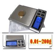 Карманные ювелирные электронные весы 0,01-200 гр фото