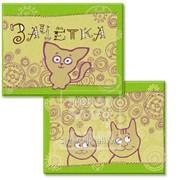Обложка для зачётки Котята на салатовом фоне Артикул: 042002обл290002 фото