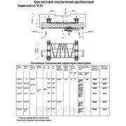 Кран мостовой электрический однобалочный подвесной г/п 10 тонн фото