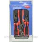 Набор инструмента 3пр монтажный, (плоскогубцы, бокорезы, длинногубцы) KNIPEX KN-002011S1 фото