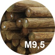 Опора деревянная пропитанная ЛЭП класса М9,5 в комплекте с полиэтиленовой крышкой и тремя оцинкованными фото
