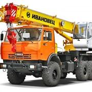 Аренда автокрана 25 тонн (вездеход) фото