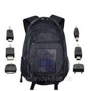 Зарядное устройство-рюкзак - 2200mAh, 2,4 Вт с панелями солнечных батарей фото