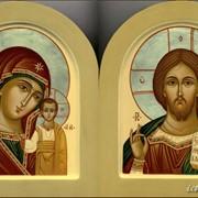 Венчальная пара Казанская икона Пресвятой Богородицы и Иисус Вседержитель фото