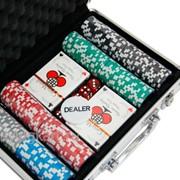 Покерный набор на 200 фишек с номиналом ГД5 - 200 фото