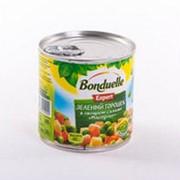 Горошек зеленый BONDUELLE в овощном салате маседуан, 400г фото