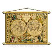 Панно (репродукция старинной карты) 140х100 (622502) фото