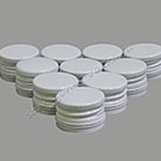 """Алюминиевый колпачок типа """"Винт"""" белый с резьбой 28х18 (10шт) фото"""