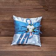 Подушечка для колец голубая, арт. CR-008 фото
