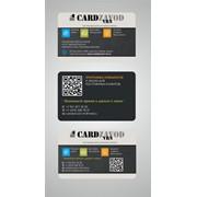 Ламинированные картонные карты, визитки фото