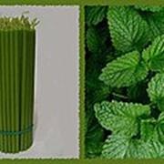 Свеча восковая №40 зеленая с ароматом мелиссы фото